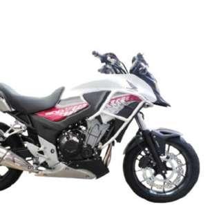 Crosspro Crashbars for Honda CB400X Black