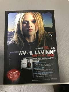 Avril Lavigne CD推廣 postcard
