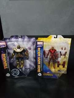 Marvel select Thanos + Iron man mk50