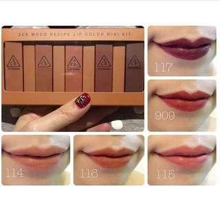 3CE lipstick minikit