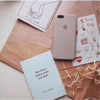 iPhone Silicone Case (Sand Pink)