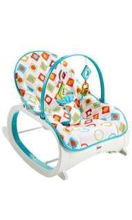 🚚 ~Ready Stocked~ Fisher-Price Infant-to-Toddler Rocker / rocking chair / bouncer - Geo Diamonds