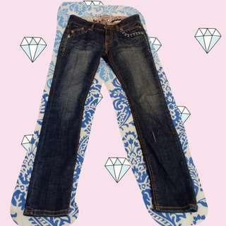 Boot-cut Washed Jeans