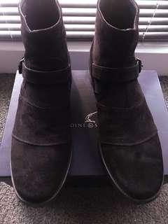 Antoine & Stanley : Rider Brown suede boots