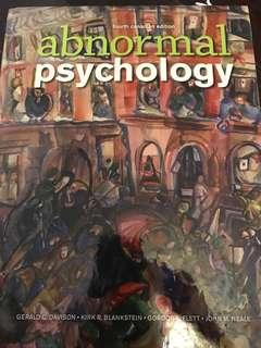 Abnormal Psychology Fourth Canadian Ed.