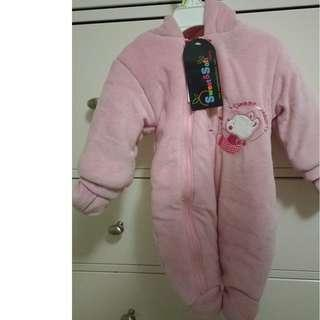 Brand New Sweet and Soft Pink snowsuit 0-3months