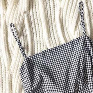Checkered summer tie up dress