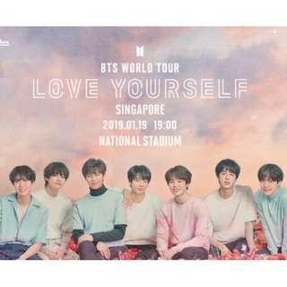 BTS World Tour Love Yourself - Singapore National Stadium x 4 Cat 6 Tickets