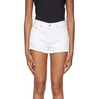 Brand New Levi's white 501 short