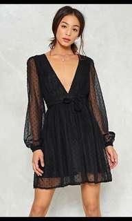 Nastygal Skin Deep Mesh Dress