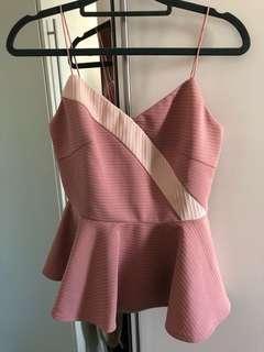 VGY Pink Peplum TOP