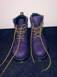 Purple Doc Martens - docs