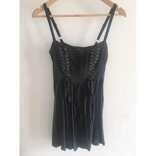 Black punk dress