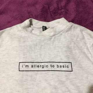 H&M Allergic to Basic Shirt