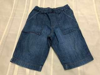 Size L:  Uniqlo Light Denim Easy Shorts