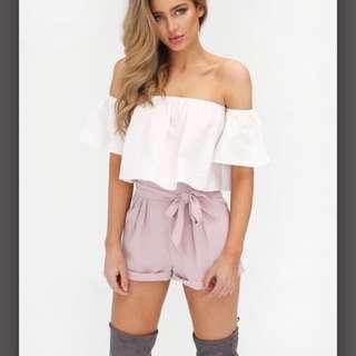 BRAND NEW OFF THE SHOULDER RUFFLE TOP
