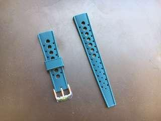 20mm Petrol Blue Rubber Tropic Strap