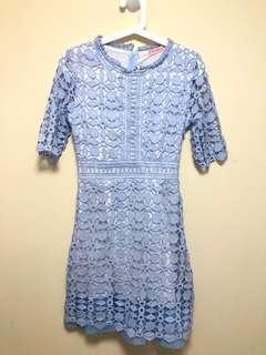 💯 New 全新 天藍色水溶性蕾絲裙👗Lace Dress‼️