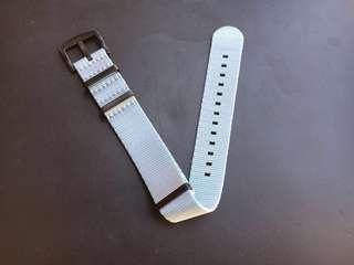 22mm Grey Seat Belt Nato Strap PVD