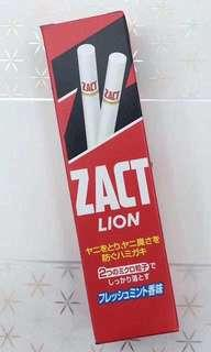 日本獅王 ZACT 除口臭 去煙漬 茶漬 亮白牙膏 150G