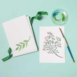 Blank White Watercolour Paper Cardstock