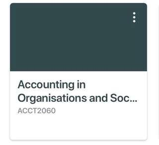 RMIT ACCOUNTING & ORGS