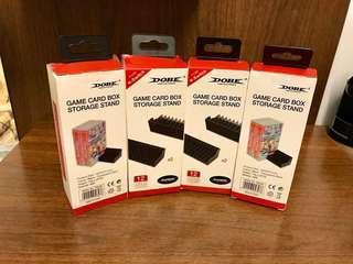 【全新僅拆開看看】可超商取貨付款 NS Switch DOBE 透黑色 卡匣盒 遊戲收納架 置物架 卡盒架 卡帶架