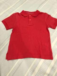 Size 4:  Children's Place Red Orange Polo