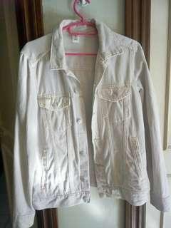 White/light pinkish jean Jacket