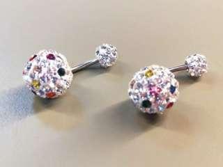 🚚 全新鎖式水鑽耳環 #一百均價