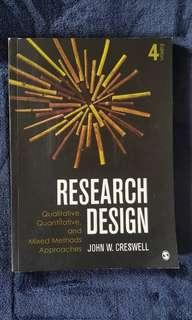 Research design: qualitative, quantitative and mixed methods approaches 4th edition