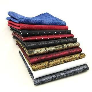 🚚 [Premium] Men Tailored Silk Pocket Handkerchief 30*30cm