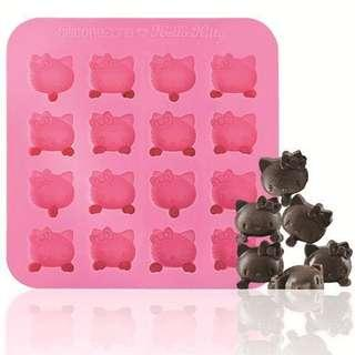 Hello Kitty Silicon 16 Chocolate Mold 矽膠朱古力模