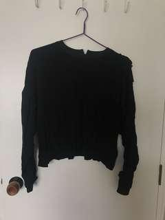 H&M ruffle long sleeve