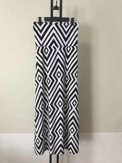 Geometric Print Long Skirt