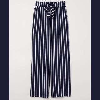 H&M paper bag trouser navy