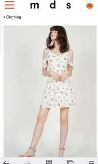 BNWT MDS collections freesia cami white mini floral dress