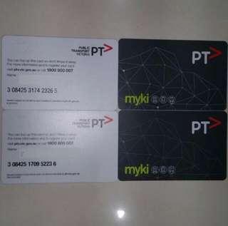 myki Australia Victoria Melbourne Stored Value Contactless Tickets