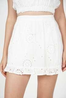 MDS Althea Crochet Skorts in White