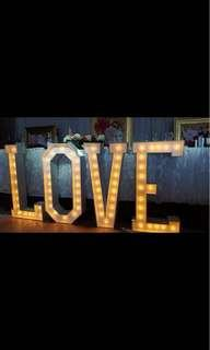Event Marquee Letters in LOVE for sale