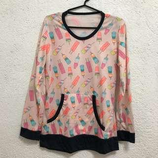 Popsicle print pullover