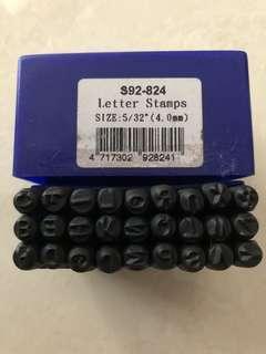 sellery metal alphabet stamp S92-824 4mm