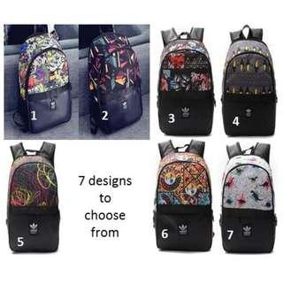Instock Adidas school Backpack with 7 designs