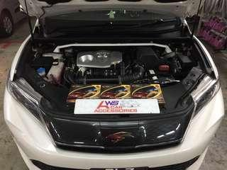 Toyota Harrier Turbo👉2017 Installed 3 Ponit *Power Nano Grounding Cables*