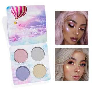 4 Colors Crystal Sugar Highlighter Palette