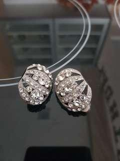 Diamond Earrings clip style