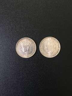 Old 20 cents coins (2pcs)