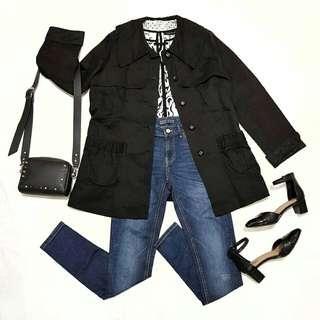 ☇LP☇Black Trench Coat