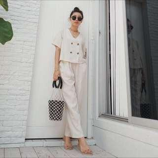 [BEST SELLING] 2pcs Chic Basic Set in Cream