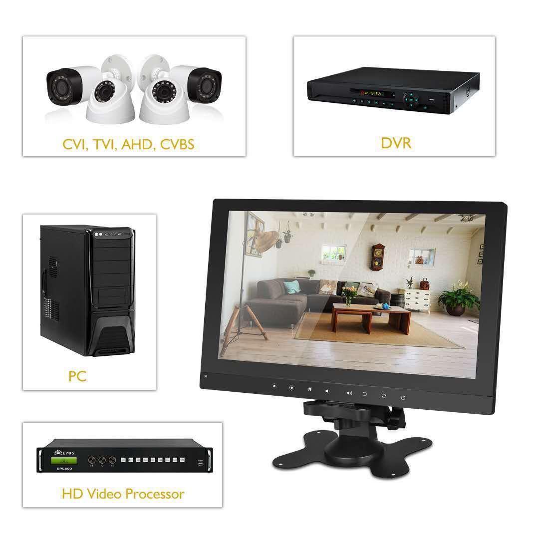 "10 1"" AHD/TVI/CVI/CVBS 10inch CCTV Monitor Tester with HDMI"